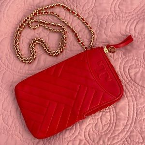 SOLD 🥳Tory Burch Phone Case Crossbody bag ♥️RED♥️